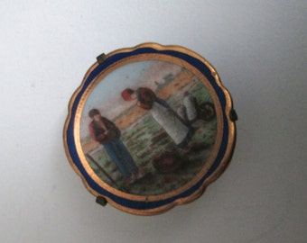 Miniature Limoges Plate.  Vintage 1950, toy, dollhouse, Miniature.Made in France.