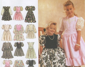 Girls Formal Dress Sewing Pattern Size 7, 8, 10, 12 Simplicity 8754, UNCUT, Modest Special Occasion Dress, Party Dress