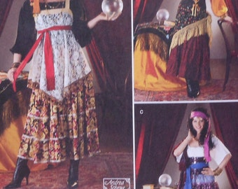 Gypsy / Fortune Teller Costume Sewing Pattern UNCUT Simplicity 2331 Sizes 6-12