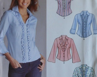 Blouse Sewing Pattern UNCUT New Look 6513 Sizes 8-18