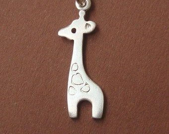 Giraffe Necklace Giraffe Charm Necklace Sterling Silver Giraffe Pendant Animal Jewelry  holiday necklace