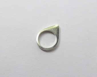 Sterling silver triangle ring.