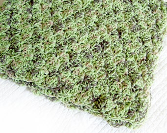 Baby blanket / crochet baby blanket in Camo colors