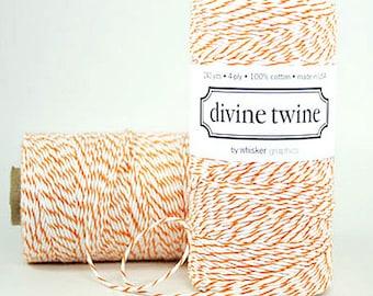 Orange Bakers Twine Orange Twine Orange String Orange Baker's Twine Cotton String 240 Yards Halloween Packaging