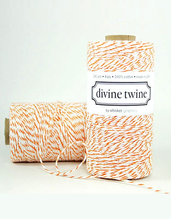 Orange Bakers Twine Orange Twine Orange Cotton String 240 Yards Halloween Packaging