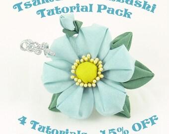 Kanzashi Tutorials - 4 Tutorials Pack - SAVE