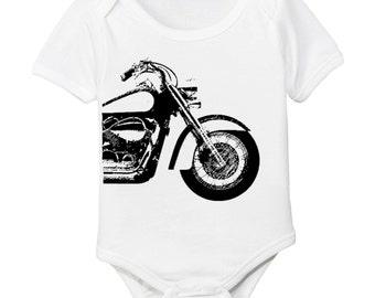 Motorcycle Organic Baby Bodysuit