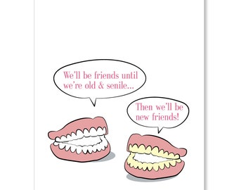 Old & Senile Friends Greeting Card