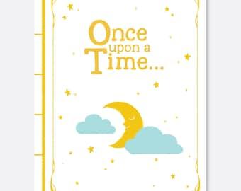 Bedtime Story, Folded Invitation, Baby Shower, Birthday Invitation, Book Invitation