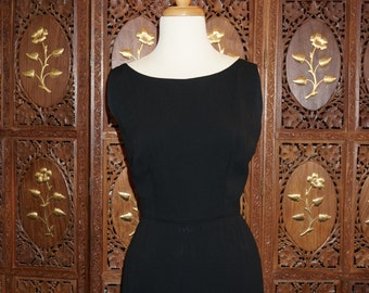 1960s Peggy Hunt LBD with Feathered Hem
