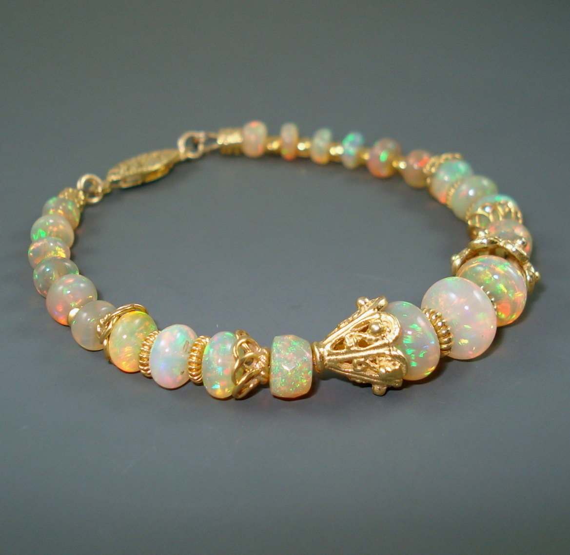 opal bracelet opals and vermeil bracelet