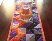 Chevron Quilted Halloween Table Runner