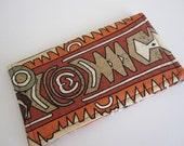 Fabric Checkbook Cover - African Safari