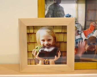 5x5 Square Picture Frame in 1x1 Flat Style and in Finish COLOR of YOUR CHOICE - Modern Small Frame 5x5 inch - Gallery Wall