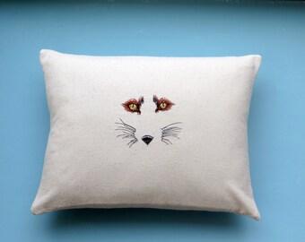 fox pillow, modern fox pillow, wildlife pillow
