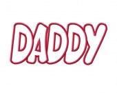 Daddy Embroidery Machine Applique Design 4056