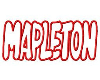 Mapleton Embroidery Machine Applique Design 4138