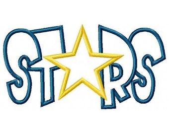 Stars Embroidery Machine Applique Design 4202