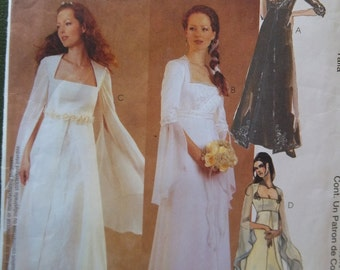 McCall's 3010 - Bridal Gown - Bridesmaids Dress - Evening Elegance - Size 10, 12, 14 - Uncut Pattern