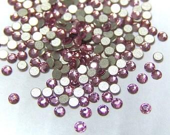300 pcs ROSE Swarovski Crystal Rhinestone Flatbacks 2028 ss6 2mm Non Hotfix