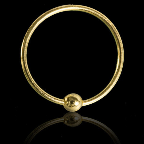 18k gold plated nose ring cartilage earrings tragus by