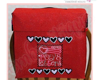 Love Letters Valentine Chair Backer Bags - PDF Sewing & Embroidery PatternInstant Email Delivery Download Machine embroidery design