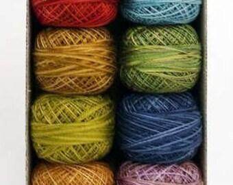 Valdani Perle Cotton Size 12 Embroidery Thread Scent of Flowers Sampler Set
