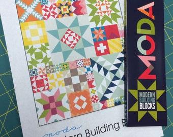 Modern Building Blocks Pattern by Moda