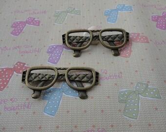 20pcs 63mmx27mm glasses Antique Bronze Retro Pendant Charm For Jewelry Pendant
