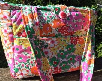 SALE!!!Large Bag- Diaper Bag- Work Bag- School Bag- JennyEliza floral