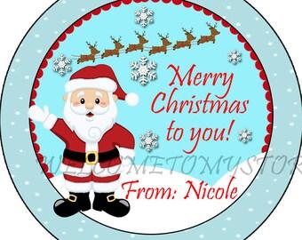 Santa Claus favor tag/Santa Claus gift tag/Christmas gift tag/kids Santa tag