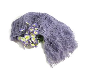 Purple Scarf, Spring Scarf, Hand Knit Scarf, Knit Scarf, Spring Scarf, Women Scarf, Amethyst, Spring Scarf, Lavender, Fashion Scarf,