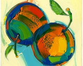 Original painting - Clementines of Two -12X12-Modern Fine Art
