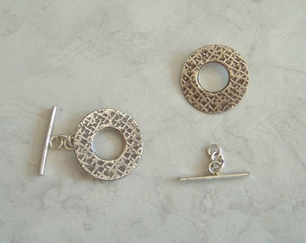 1 Large Sterling Silver 25mm Toggle Clasp For Necklace