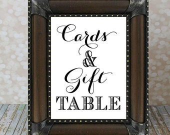 Cards & Gifts Table Sign, Reception Table Sign, Instant Download. Wedding Sign DIY Printable, Bridal Shower. Gift Table Wedding Sign