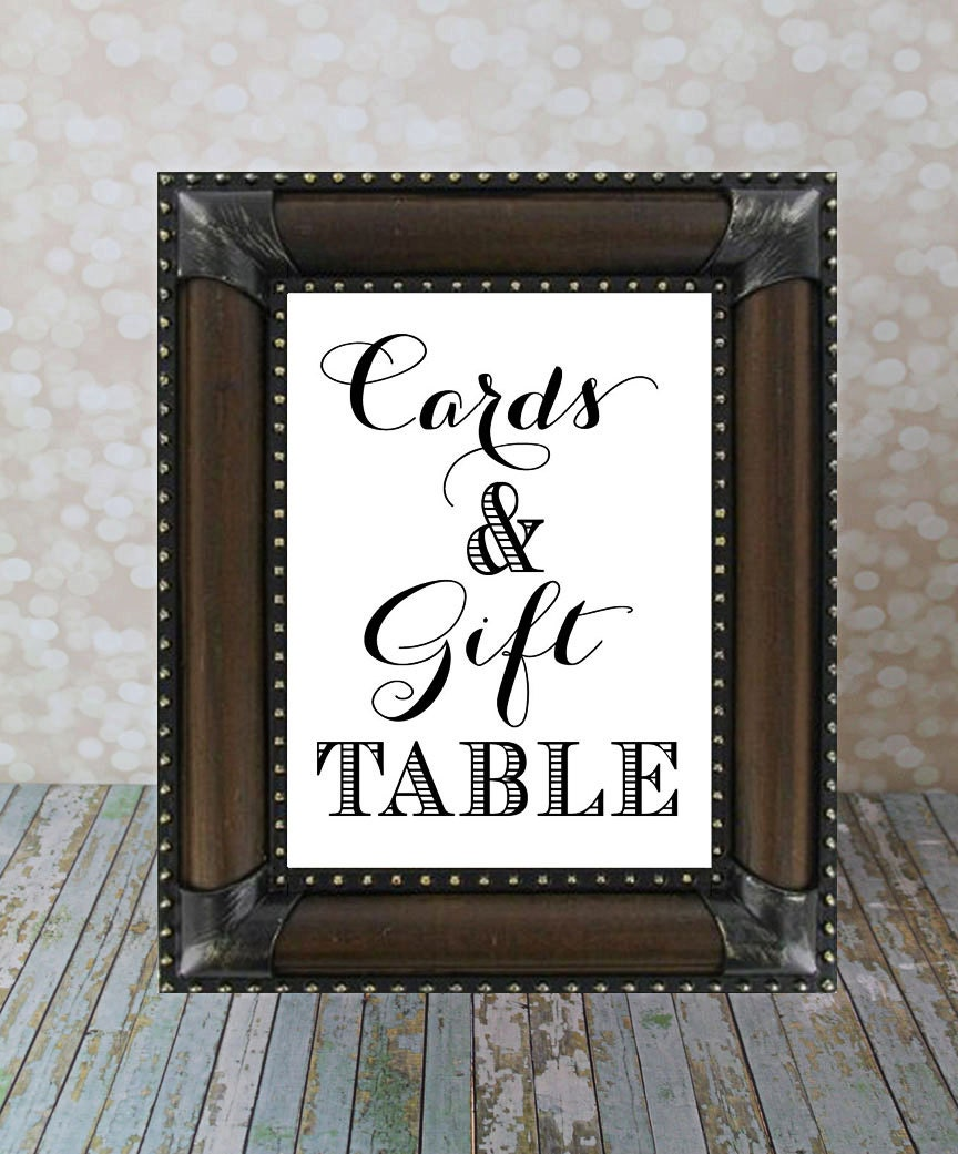 Gift Table At Wedding Reception: Cards & Gifts Table Sign Reception Table Sign Instant