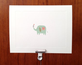 Elephant Note cards - Stationery Set of 10 cards and envelopes
