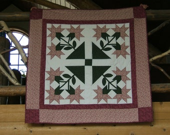 A Large Lily Patchwork Quilt  /Item #13