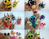 Cute Insect (Bee, Ladybug, Butterfly, Dragonfly, Snail, Caterpillar) - Pick ONE