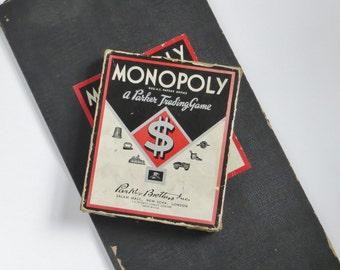Vintage Monopoly Game 1937 - 1940 No.6 London Diamond Box Front