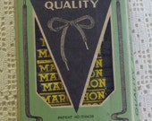 Vintage Marathon Shoe Lace Store Display Easel Back