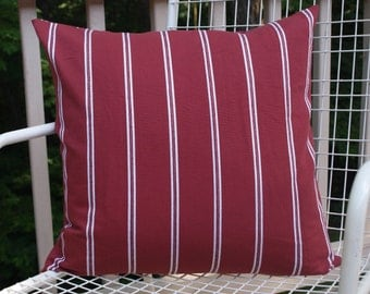 Red Stripe Pillow Cover