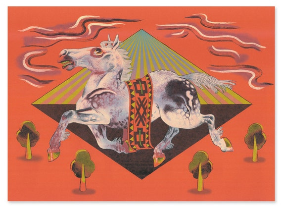 Chinese Zodiac Series Art Print No.4 -Year Of The Horse 2014