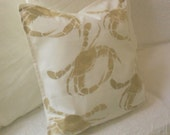Crab Sealife pillow cover