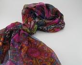 Reserved --- Handmade Silk Chiffon Scarf ( Set of 2)
