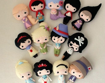 Fairy Tale Dolls pdf Patterns - You Choose Two