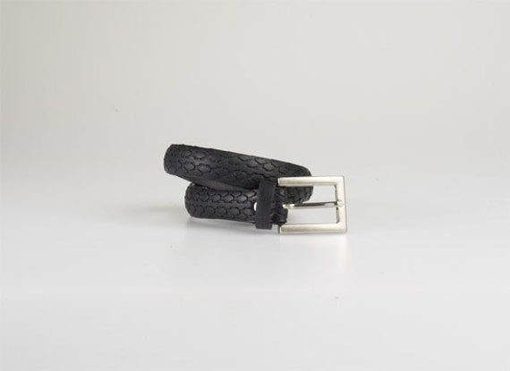 Skinny Bike tyre belt by Katcha Bilek - Ethical, Upcycled, rubber bike tyres - Waterproof Eco Fashion.