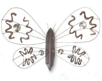 Metal Art Sculpture Moth Wall Sculpture