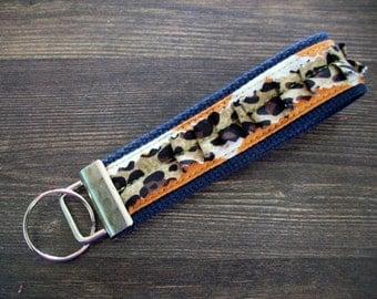 SO FUN 'Cheetah Girl' Key Fob - Wristlet Keychain