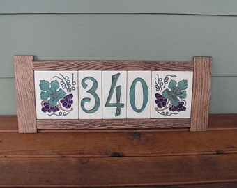 Stoneware House Number Tiles and Decorative End Tiles, Made to Order